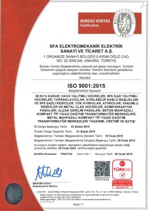 SFA ELEKTRO 9001 TÜRKAK